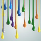 3D color glossy paint drop blobs Royalty Free Stock Photos