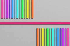 3d colored bars. 3d rendering of an abstract composition with a lot of colored bars Royalty Free Stock Photography