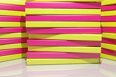 3d colored bars. 3d rendering of an abstract composition with a lot of colored bars Stock Photography