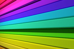 3d colored bars. 3d rendering of an abstract composition with a lot of colored bars Royalty Free Stock Images