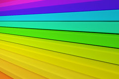 3d colored bars. 3d rendering of an abstract composition with a lot of colored bars Royalty Free Stock Photo