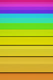 3d colored bars Stock Image