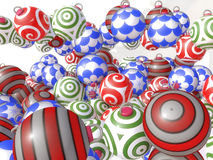 3d colored christmas balls Royalty Free Stock Photo