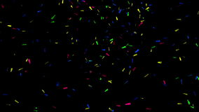 3D Colored Confetti on Black, alpha matte royalty free illustration