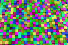 3d colored cubes background, color mosaic. Stock Photos