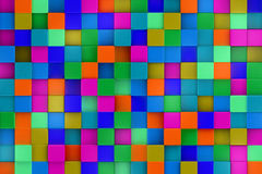 3d colored cubes background, color mosaic. Stock Images