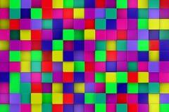 3d colored cubes background, color mosaic. 3d colored cubes background, color mosaic Royalty Free Stock Images