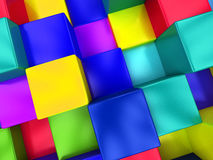 3d colored cubes background, color mosaic. 3d colored cubes background, color mosaic royalty free illustration