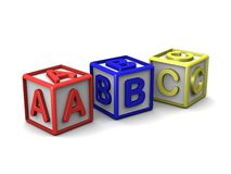 A B C Letters Cubes Stock Image