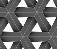 3D colored gray triangular grid. Seamless geometric background. Pattern with realistic shadow and cut out of paper effect.Colored.3D colored gray triangular grid Royalty Free Stock Image