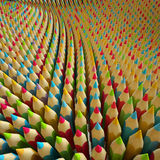 3d colored pencils, abstract digital illustration Stock Image