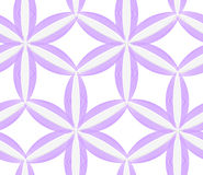 3D colored purple geometrical flower. Seamless geometric background. Pattern with realistic shadow and cut out of paper effect.White 3d paper Stock Images