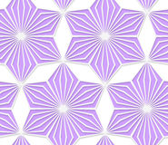 3D colored purple geometrical star. Seamless geometric background. Pattern with realistic shadow and cut out of paper effect.Colored.3D colored purple Stock Photography