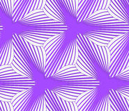 3D colored purple geometrical striped flower. Seamless geometric background. Pattern with realistic shadow and cut out of paper effect.Colored.3D colored purple stock illustration