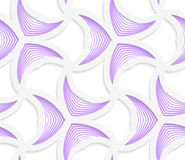 3D colored purple geometrical striped pedals Royalty Free Stock Images