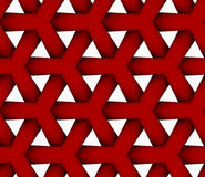 3D colored red triangular grid. Seamless geometric background. Pattern with realistic shadow and cut out of paper effect.Colored.3D colored red triangular grid Royalty Free Stock Photography
