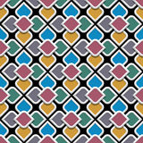 3d colored seamless pattern in arabic style. Vector background Royalty Free Stock Images