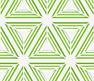 3D colored striped green stars Stock Image
