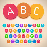 3D Colorful Alphabet Stock Photo