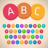 3D Colorful Alphabet. Vector Font Royalty Free Illustration