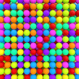 3d colorful balls background Stock Photo