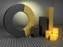 3d colorful Bar graph Royalty Free Stock Photography