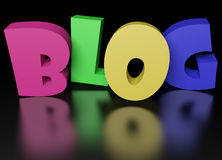 3D Colorful Blog Text stock image