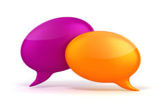 3d colorful bubble talk. On white background Stock Images
