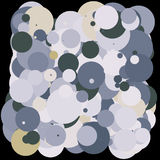 2d colorful bubbles. Grey, yellow, white on black Royalty Free Stock Photo