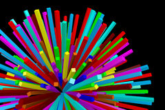 3D colorful burst... Royalty Free Stock Photo