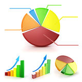 3d colorful business graph set Stock Images