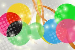 3d colorful circle overlap with star, abstract background Royalty Free Stock Photography