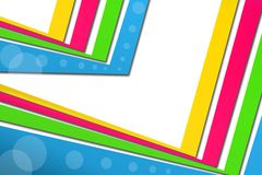 3d colorful corners, abstract background Stock Photography