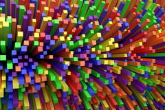 3D colorful cube abstract background Stock Image
