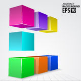 3D Colorful Cube Arc, Vector Illustration InfographicTe Stock Photos