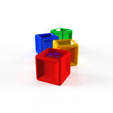 3d colorful cubes Royalty Free Stock Images