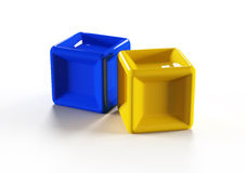 3d colorful cubes Stock Images