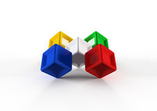 3d colorful cubes Royalty Free Stock Photos