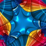 3d Colorful design abstract background Stock Photo