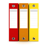 3d colorful dossiers folders Stock Photos