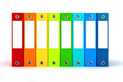 3d colorful dossiers folders Royalty Free Stock Photo