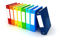 3d colorful dossiers folders Stock Photography