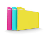 3d colorful folders  over white. Background. Data storage concept Royalty Free Stock Photography