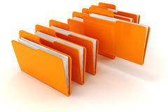 3d colorful folders Stock Images