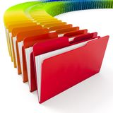 3d colorful folders on white background. Archive metaphor Royalty Free Stock Image
