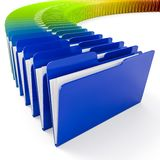 3d colorful folders on white background. Archive metaphor Royalty Free Stock Photo