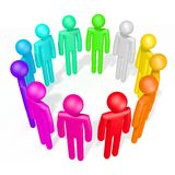 3D colorful human characters Royalty Free Stock Images