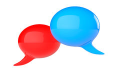 3d colorful idea speech bubbles Stock Photo
