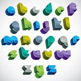 3d colorful letters futuristic alphabet. Royalty Free Stock Images
