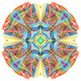 3D colorful mandala Royalty Free Stock Photography